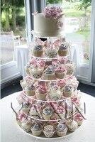 Бесплатная доставка 6 уровня Круглые Стекло акриловое день рождения торт Дисплей стенд lucite кекс стенды для свадеб