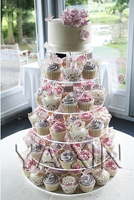 Free shipping 6 Tier Round Crystal Acrylic Birthday Cake Display Stand Lucite Cupcake Stands For Weddings