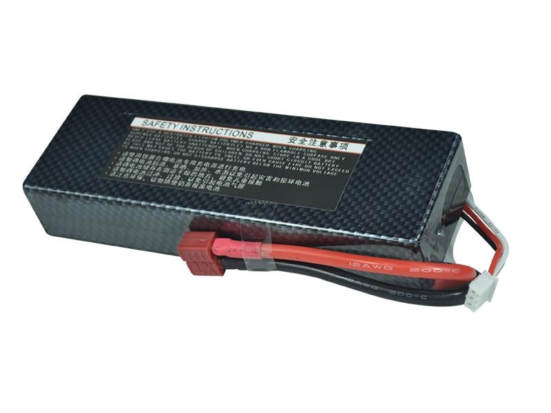 XXL rc Car Lipo Battery Hard Case FPV 7.4v 3000mah 35C max 70C 2S Accu Battery L