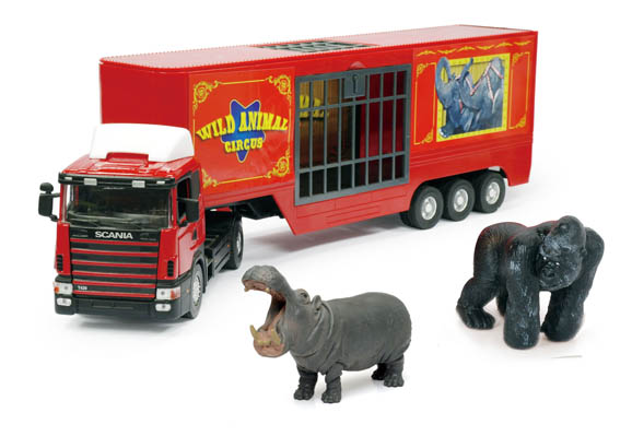 miniature simulation voiture cars 1 43 zoo truck with two animals metal car model display