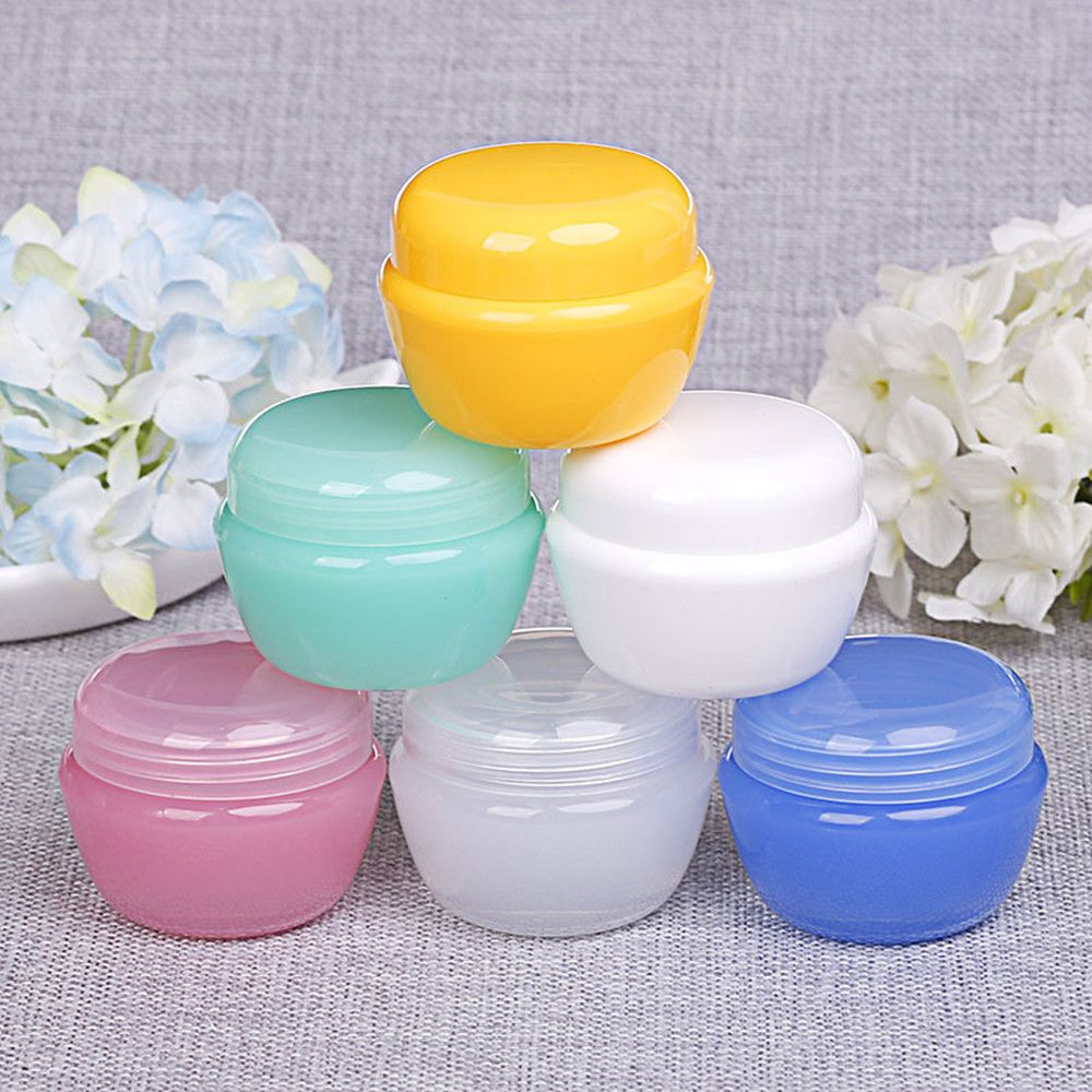 5/10/30g*2pcs Cosmetic Sub Travel Bottles Plastic Empty Makeup Cream Container Pot Jar Refillable Bottles Jar Travel Accessories 5pcs 5g portable cosmetic empty jar pot eyeshadow case makeup face cream container box cosmetic clear bottles accessories pink