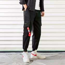2019 для мужчин с карманами шаровары хип хоп брюки для девочек мотобрюки уличная Спортивные штаны Hombre мужской повседневное модные