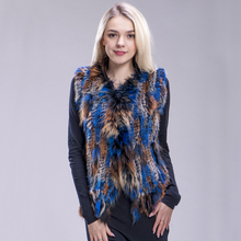 FXFURS new colors Women Genuine real Rabbit Fur Vest coat ta