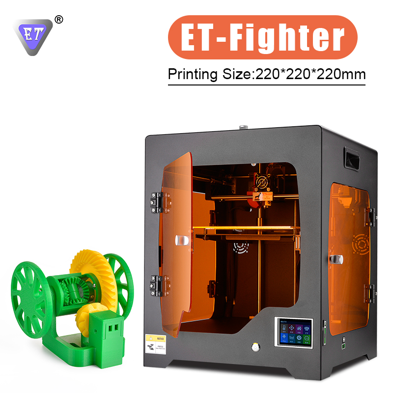 цена на ET 3D Printer ET-Fighter Large Built Volume prusa i3 nozzle Metal Frame Structure Power Off Resume 4 Acrylic Covers PLA ABS Wood