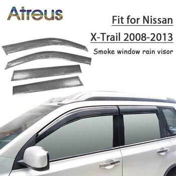 Atreus 1set ABS Rain Smoke Window Visor Car Wind Deflector For Nissan X-Trail T31 2008 2009 2010 2011 2012 2013 Accessories
