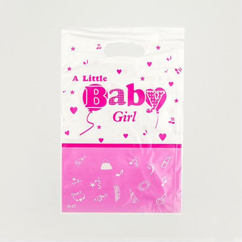 10pcs/pack A Little Baby Girl Theme Party Loot Bag Party Supplies Gift Bag Kid Girls Birthday Wedding Party Decoration