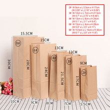 paper bag Brown Kraft Paper bag Gift Bags packing Biscuits candy Food bread Cookie Bread Nuts Snack Baking Package(China)