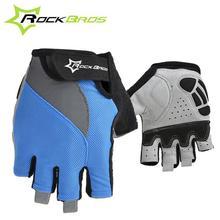 RockBros Нескользящей Дышащий Мужские женские Летние Спортивная Одежда Велосипед Велоспорт Цикл Гель Pad Короткие Половины Пальцев перчатки, 2 Стиль