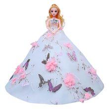 цены на Lace Wedding Dress Doll New Style Princess Clothes Toy Children Girl Kid Birthday Gift  в интернет-магазинах