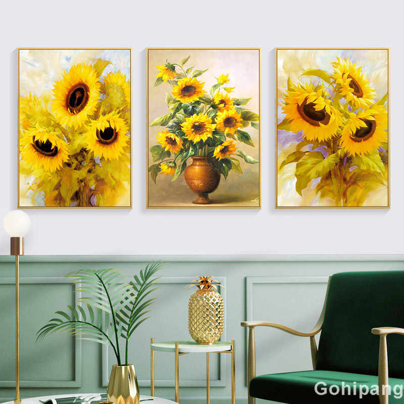 Flower Canvas Painting Art Posters and Prints Sunflower Wall Art Nordic Pictures for Living Room Decoration Home Decor Artwork