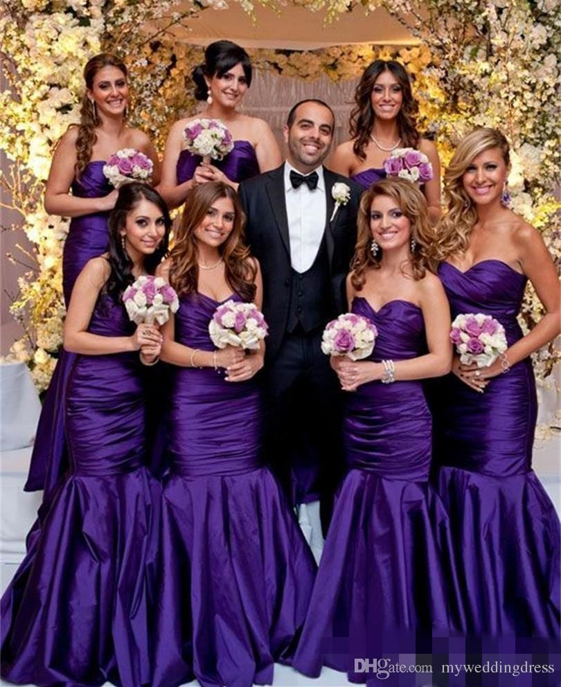 Online get cheap taffeta junior bridesmaid dress aliexpress 2017 mermaid dark purple bridesmaid dresses taffeta plus size long wedding guest gowns junior backless maid ombrellifo Image collections