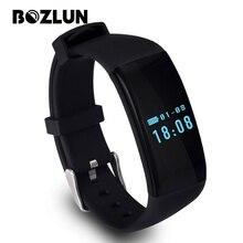 Bozlun d21 hombres mujeres pulsera inteligente llamada mensaje recordatorio reloj del ritmo cardíaco del deporte de la manera ios android digital de pulsera