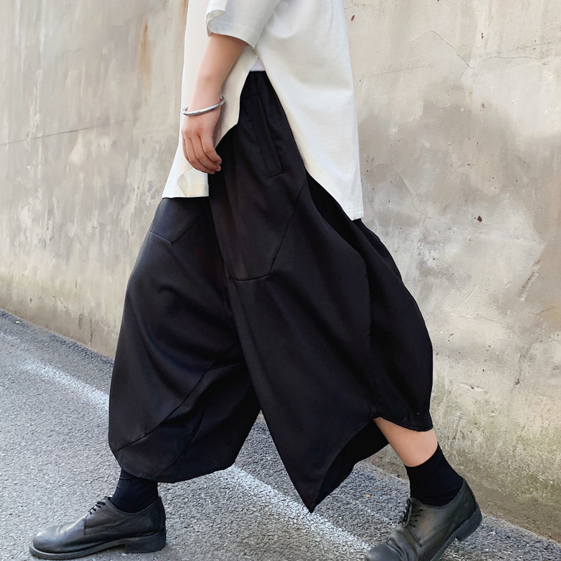Casual Pant Trousers Harem Streetwear Loose Punk Black Male Japan Hip-Hop Dark Skirts