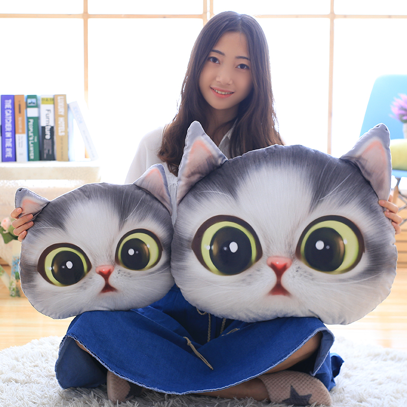 40cm Big eyed Cat air conditioning blanket Toys Expression cat pillow Soft Cushion Stuffed plush kids doll baby birthday gift 40cm height kawaii brinquedos new plush toys stuffed animal doll pusheen cat pillow for girl kids toys big cute cushion cover
