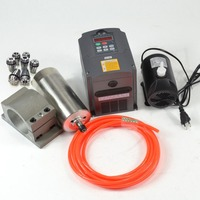CNC spindel 1 5 KW 110V wasser gekühlt SPINDEL MOTOR & frequenz INVERTER & CLAMP & PUMPE & ROHR & ER11 collet ( 1-7mm)