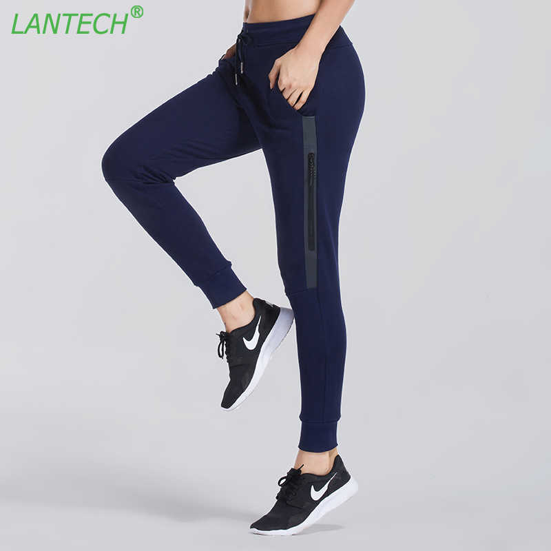 f3cd1f7970 LANTECH Women Running Pants Jogging Sports Zipper Yoga Sportswear Pocket  Fitness Exercise Gym Long Pencil Pants