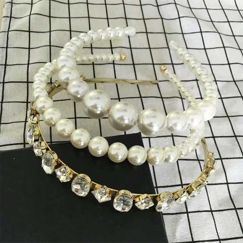 2019 Handmade Charm Crystal Fine Headband Simulated Pearls Beaded Tiara Golden Headwear For Women Hair Accessories Jewelry Gift -in Hair Jewelry from Jewelry & Accessories on Aliexpress.com   Alibaba Group