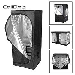CellDeal Premium carpa de plata Mylar cubierta caja de brote hidroponía cuarto oscuro tamaños crecen tienda de la tela de Oxford carpa hidropónico