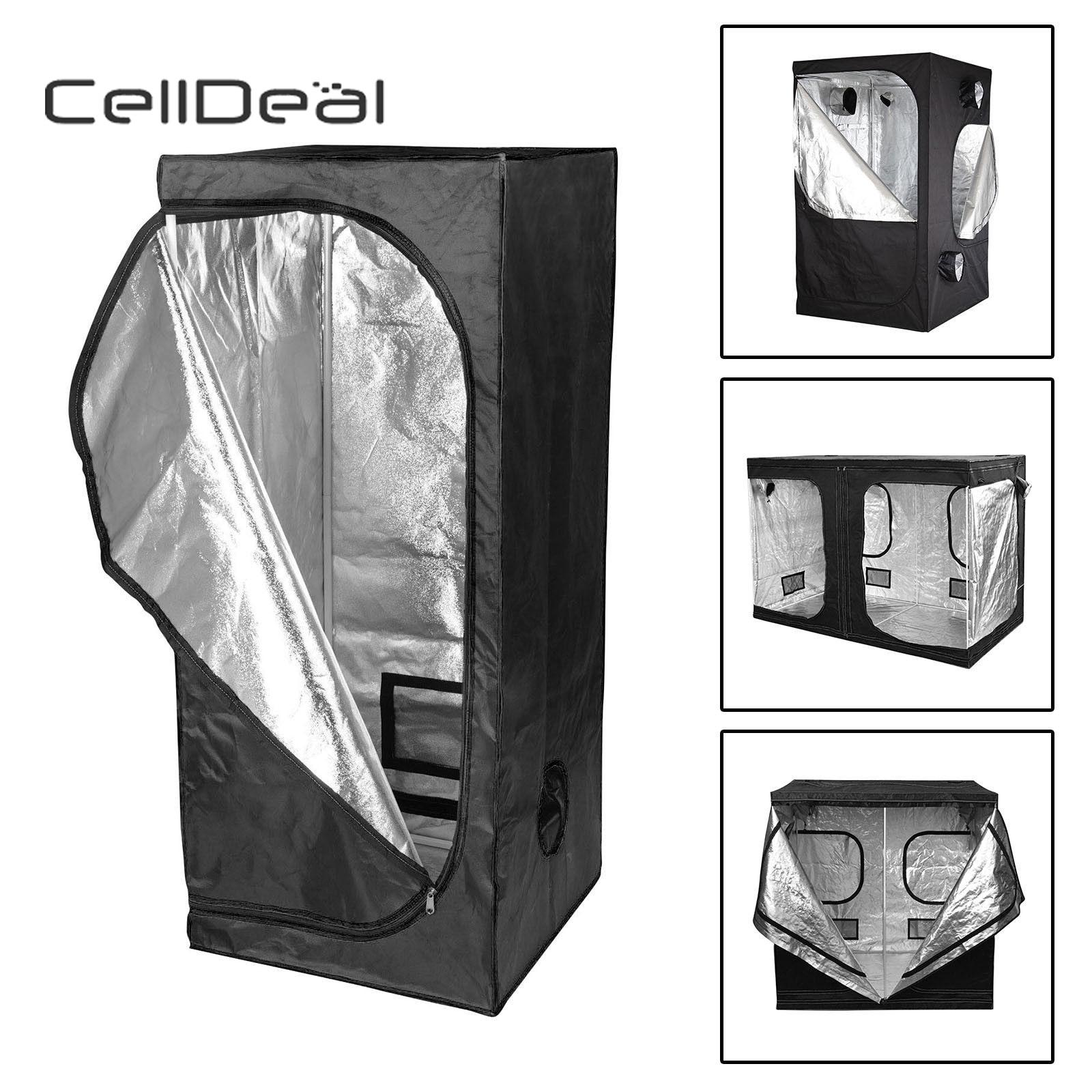 CellDeal Premium cultiver tente argent Mylar intérieur bourgeon boîte hydroponique chambre sombre tailles cultiver tente Oxford tissu cultiver tente hydroponique