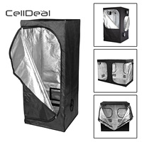 CellDeal Premium Grow Tent Silver Mylar Indoor Bud Box Hydroponics Dark Room Sizes Grow Tent Oxford Cloth Grow Tent Hydroponic