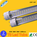 600pcs 25W 28W 36W Double Row T8 Led Tube 1200mm G13 base SMD 2835 220V 110V led Lighting lamp 2 years warranty free shipping