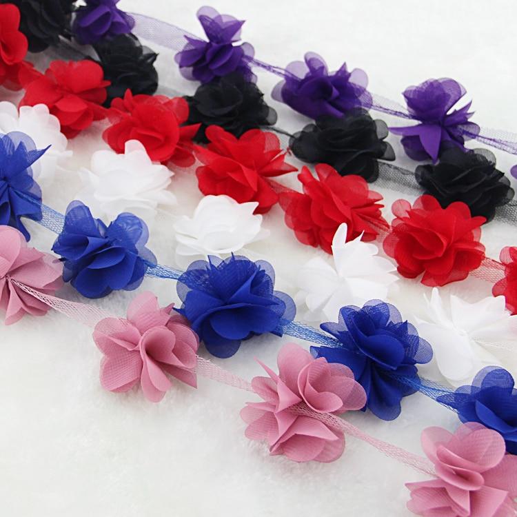 10 oborre / shumë shumëngjyrësh 3D 6 gjethe byrynxhyk Lule - Arte, zanate dhe qepje - Foto 4