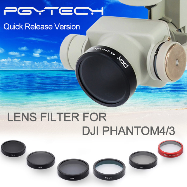 Childplaymate 3pcs Lens Filters Set for DJI Drone UAV Protector Part UV+ND4+ND8+ND16+CPL