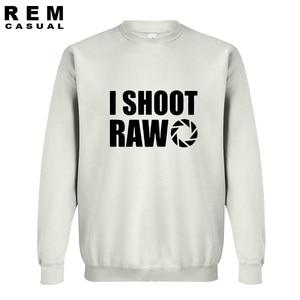 Image 4 - New Style I SHOOT RAW Funny Photographer Gift long sleeve Men Casual Hoodies, Sweatshirts