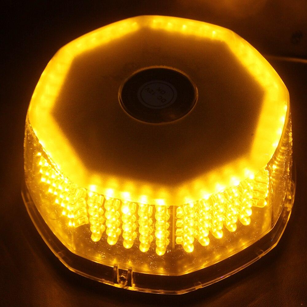 240 Amber Bulbs High Brightness LED Strobe Lights Hazard Emergency Lamp Truck Vehicle Car Roof Top Flashing Accessories