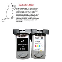 YOTAT remanufactured ink cartridge PG 40 CL 41 for Canon Pixma MP150 MP160 MP140 MP210 MP220 MX300 MX310 iP1800 iP2500 iP1600