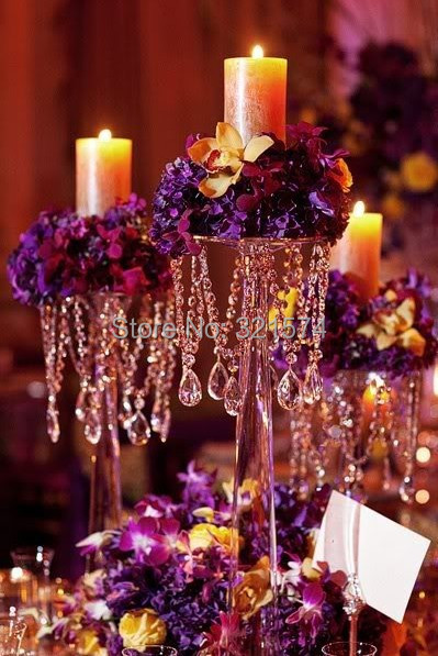 Хрустальная подставка для цветов Свадебная украшение стола центральный 60 см 23,62 дюйма