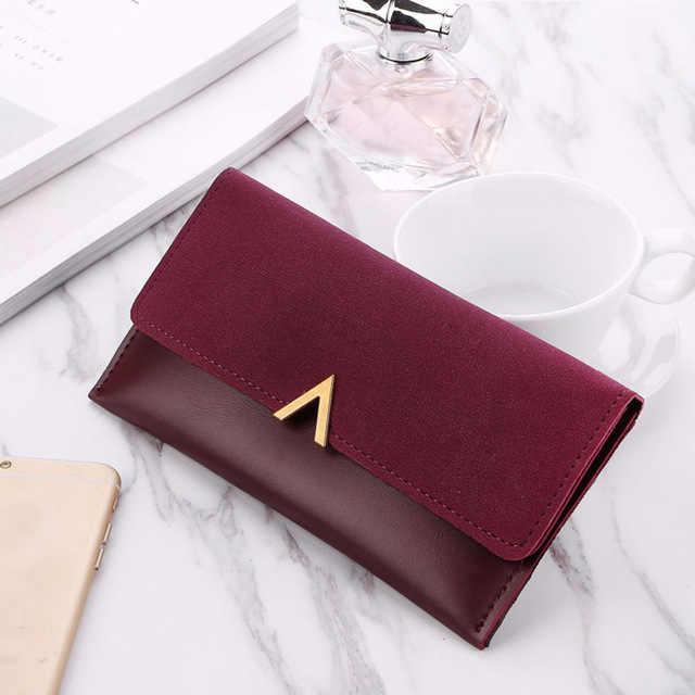 10255093d ... Billeteras de mujer largo bolsa de dinero de cuero de la marca de moda  bolso de
