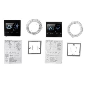 Image 4 - LCD Touch Screen Thermostat Electric Floor Heating System Water Heating Thermoregulator AC85 240V Temperature Controller 110V 22