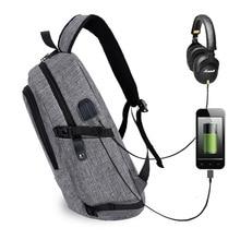 Mochila para ordenador portátil, negocio, antirrobo, bolsa de viaje para ordenador para hombres y mujeres, mochila escolar delgada resistente al agua con USB