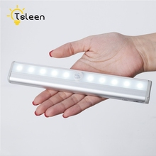 10LED Motion Sensor Light Wireless Infrared Home Indoor Outdoor PIR Auto Detector LED Night Lamp 2 styles