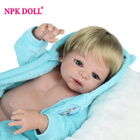 22 Inch Soft Silicone Reborn Dolls Lifelike Baby Full Body Silicone Reborns For Sale Boneca Reborn
