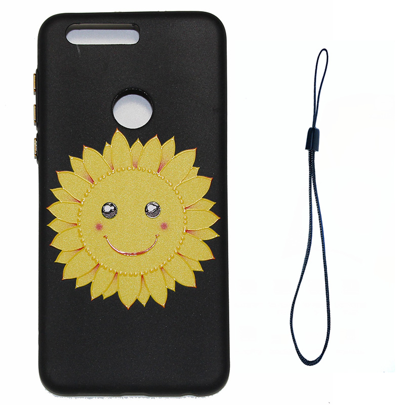 3D Relief flower silicone case huawei honor 8 (12)