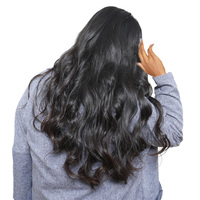 Body Wave Lace Front Human Hair Wigs For Black Women 250 Density Pre Plucked Bleached Knots