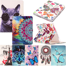 Tablet iPad8 Funda For iPad 9.7 2017 2018 Fashion Cartoon Leather Wallet Magnet Flip Case Cover Coque Silicone Shell Stand A1822