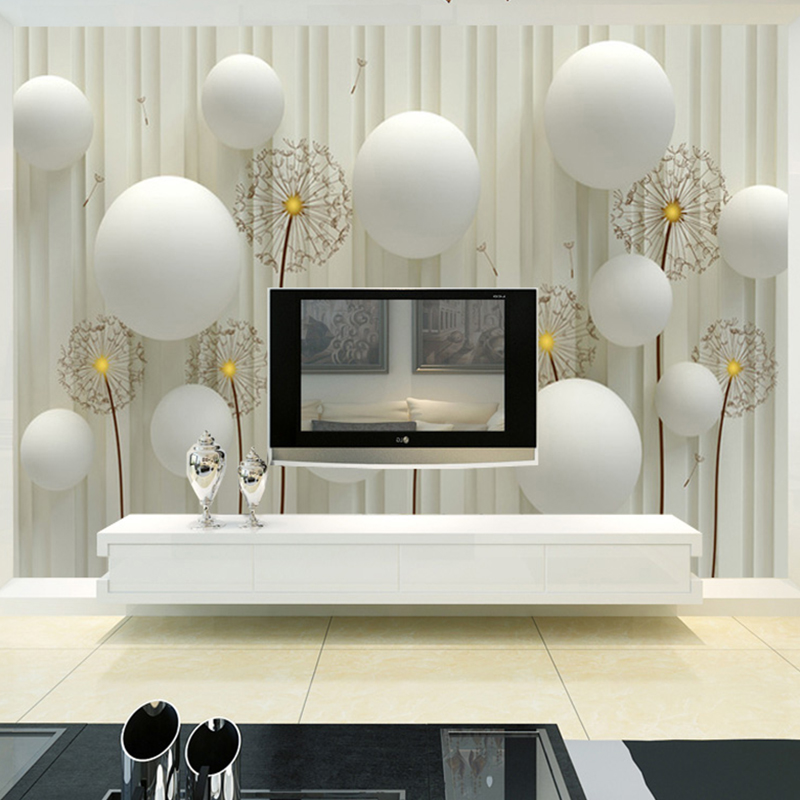 Custom Photo Mural Modern Creative Art 3D Stereo White Ball Wall Paper for Living Room TV Sofa Background Wall Simple Home DecorCustom Photo Mural Modern Creative Art 3D Stereo White Ball Wall Paper for Living Room TV Sofa Background Wall Simple Home Decor