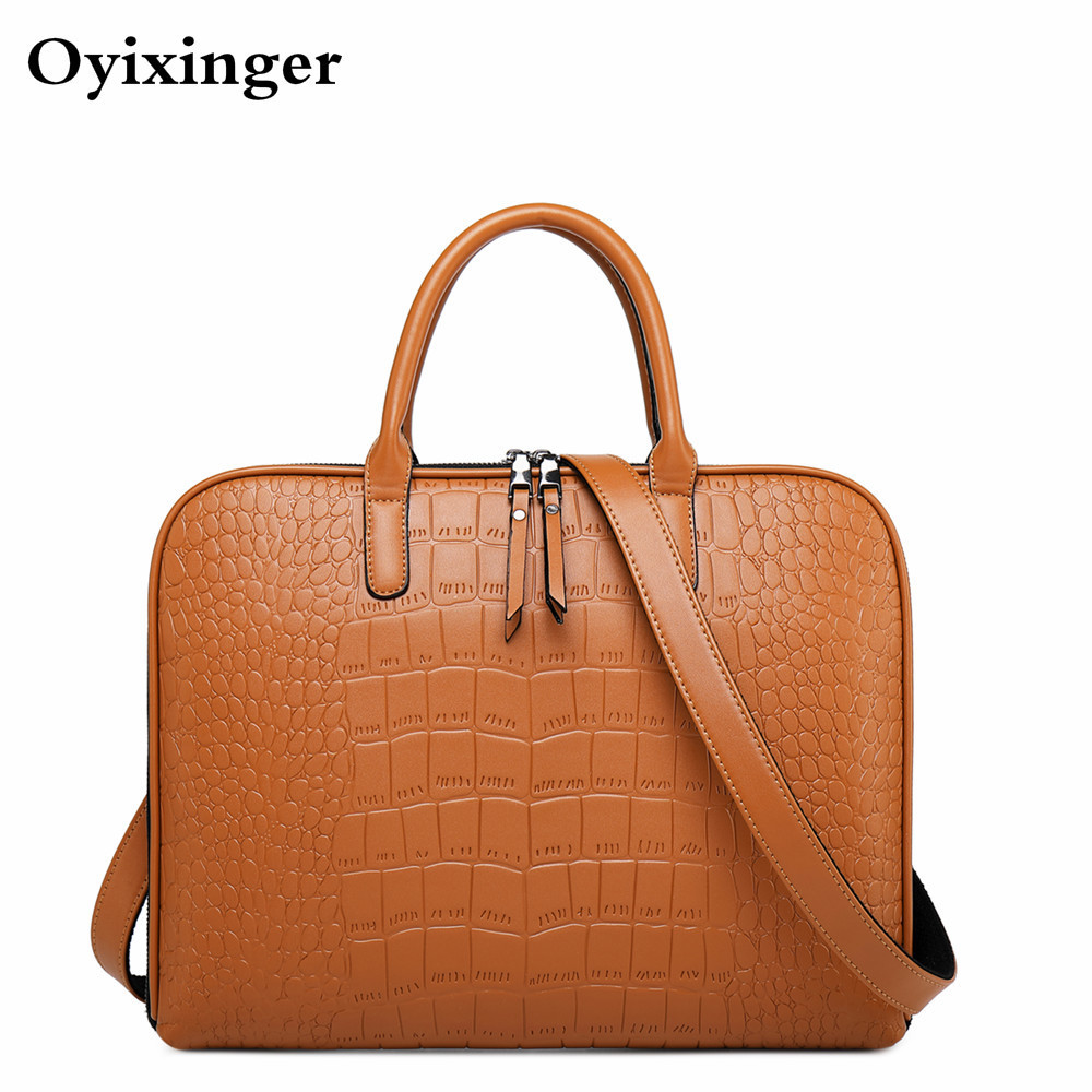 Fashion Female Shoulder Office Bags For Women Business Briefcase Woman Leather Laptop Handbag 13
