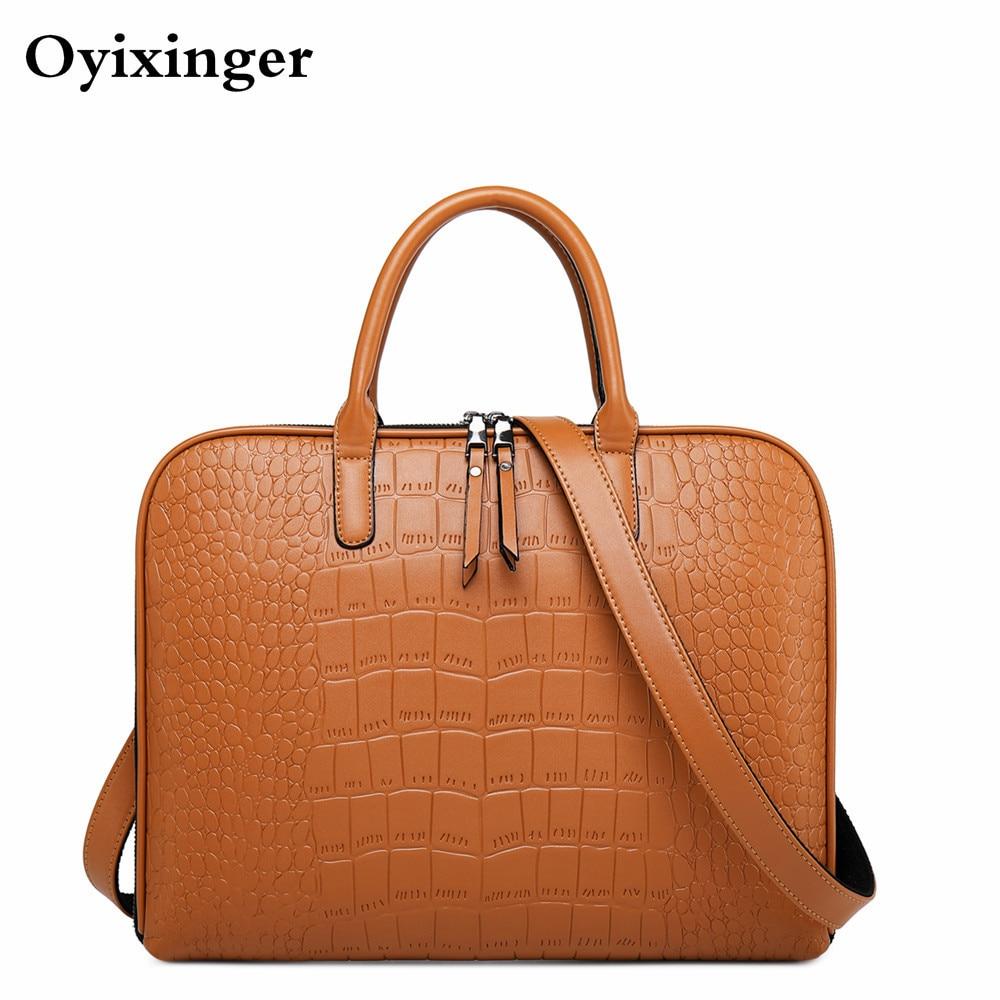 Fashion Female Shoulder Office Bags For Women Business Briefcase Woman Leather Laptop Handbag 13