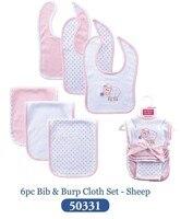 5 Cartoon 6 Pcs Lot Bibs For Baby Girl And Boy Sheep Pink Cute Babadores Para