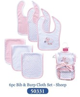5 Cartoon 6 Pcs Lot Bibs For Baby Girl And Boy Sheep Pink Cute Babadores Para