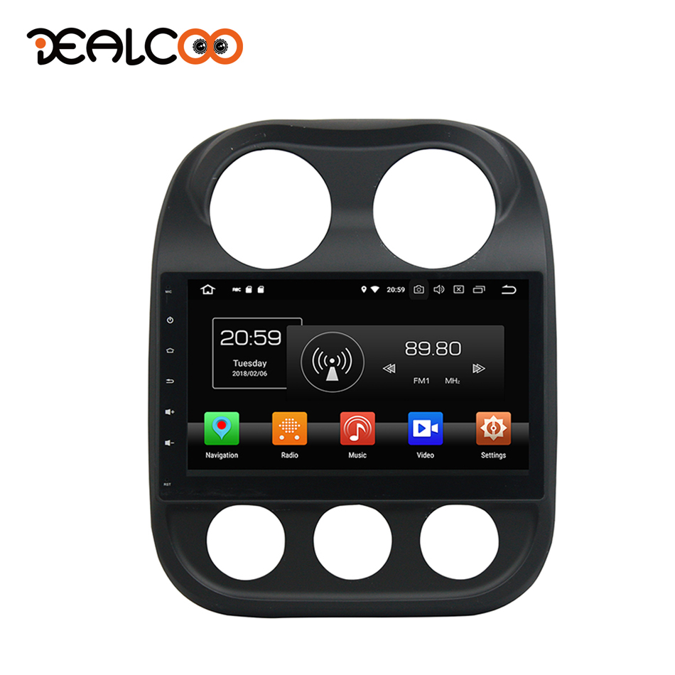 Dealcoo 1Din Android Autoradio GPS Android Autoradio 1 Din Android Autoradio Central multimédia Android pour Jeep boussole 2014