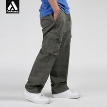 Spring Autumn Men Casual Baggy Cargo Pants Men's Clothing Plus Size XXXL 4XL 5XL 6XL Army Green Trousers Big Pockets