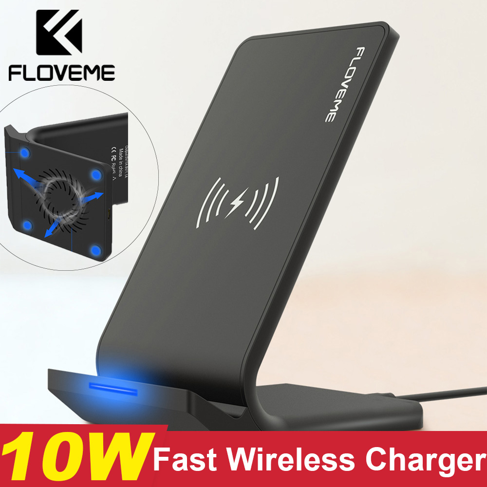 FLOVEME Qi Fast Wireless Charger For iPhone XS Max XR X 10W USB Wireless Charging Charger For