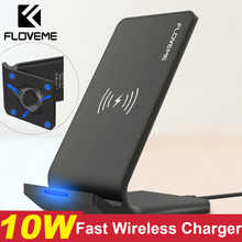 FLOVEME Qi Fast Wireless Charger For iPhone XS Max XR X 10W USB Wireless Charging Charger For iPhone X 8 Plus For Samsung Note 9 - DISCOUNT ITEM  49% OFF All Category