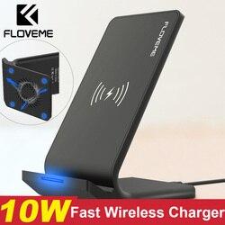 FLOVEME szybka bezprzewodowa ładowarka qi dla iPhone XS Max XR X 10W USB bezprzewodowe ładowanie ładowarka dla iPhone X 8 Plus dla Samsung uwaga 9 w Ładowarki do telefonów komórkowych od Telefony komórkowe i telekomunikacja na