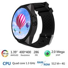 New 3G Kingwear KW88 Smart watch 1.39'' Amoled 400*400 SmartWatch 3G Calling 2.0MP Camera Pedometer Heart Rate relogio P20